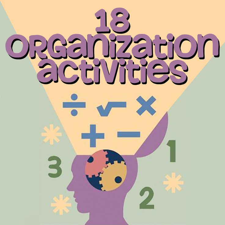 These activities are designed to help students learn executive functioning and #organizational skills. They are most helpful for students with difficulties such as Attention Deficit Disorder (#ADD) or Attention Deficit Disorder with Hyperactivity (#ADHD), but are useful to most other students as well!    This pack contains graphic organizers to help students organize information, sequencing activities to help them practice putting steps in order, and other activities.