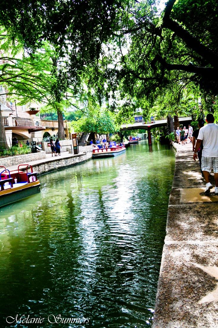 The San Antonio Riverwalk in San Antonio, Texas