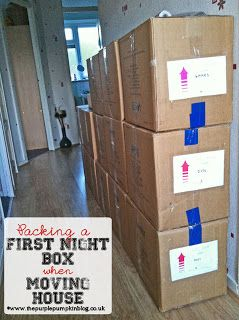 Packing a First Night Box when Moving House - #lists