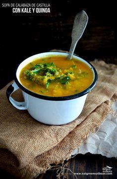 Sopa de Calabaza de Castilla con Quinoa y Kale
