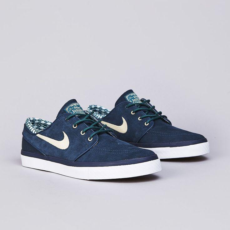 Nike Stefan Janoski Blue Camo Canvas Lunarlon Athletic Shoe Men's 11