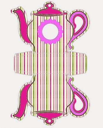 Colored Stripes: Teapot Free Printable Boxes.