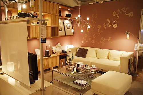 Ikea Livingroom Ikea With Beautiful Lighting And White