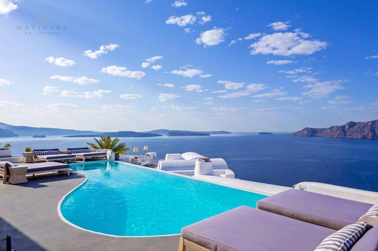 Katikies Hotel   NEW infinity pool   Santorini, Greece