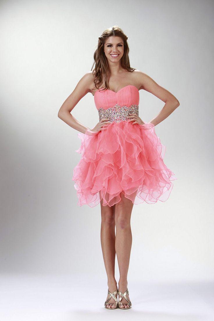 Dorable Vestidos De Dama De Color Rosa Coral Componente - Ideas de ...