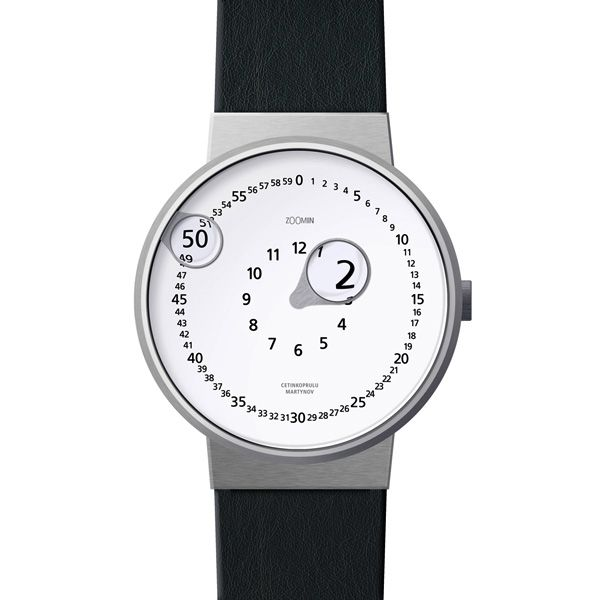 Z00MIN watch rotating magnifying glass that tells you the time, via FormFreundlich.de