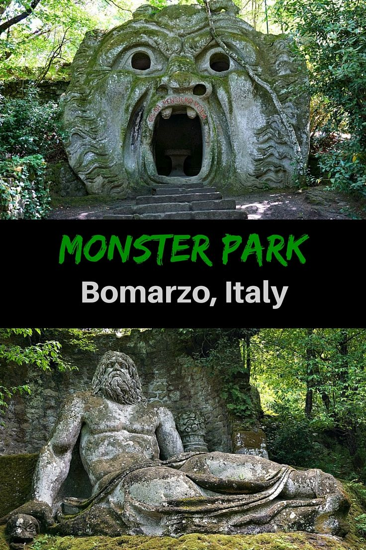 The Park of Monsters, or Sacro Bosco, is filled with massive statues depicting images meant to shock. One of the best things to do in Viterbo, Italy Click to find out more @venturists