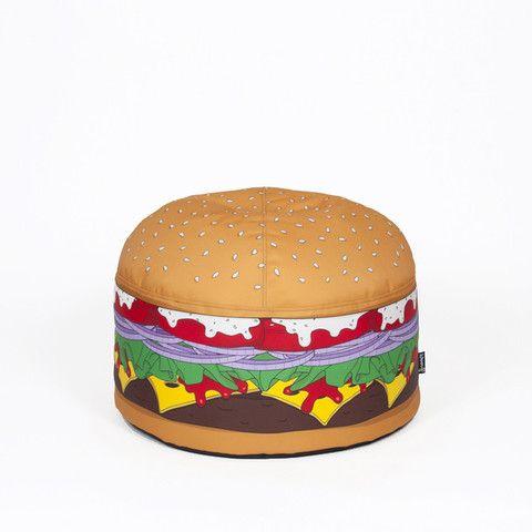 Woouf Burger Bean Bag Cover (unfilled)