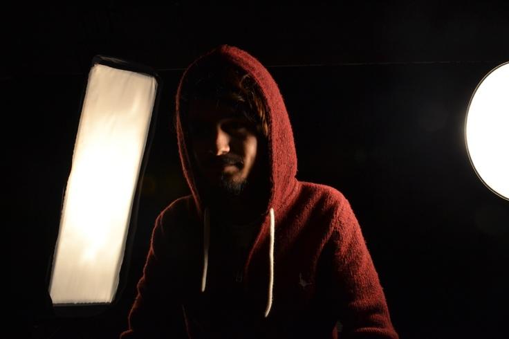 Aarjan in the studio