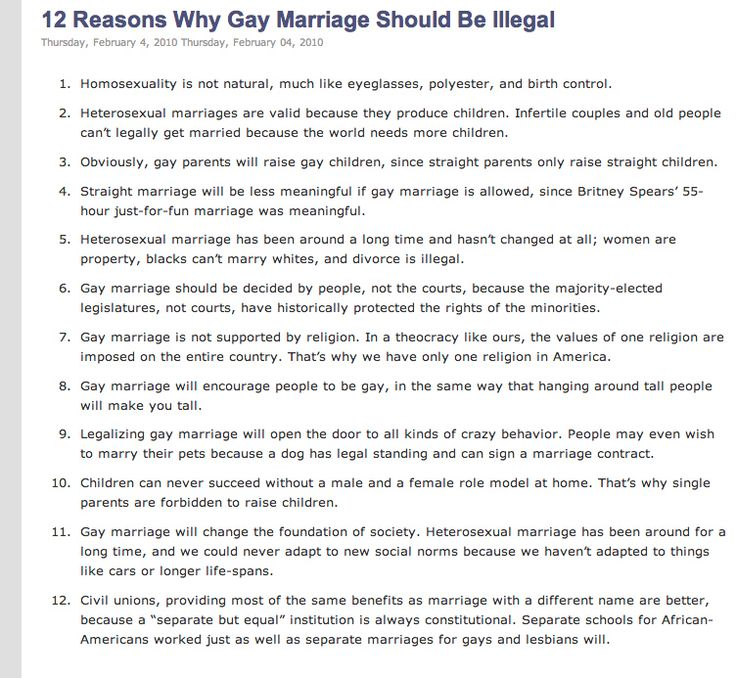 Essay against same sex marriage