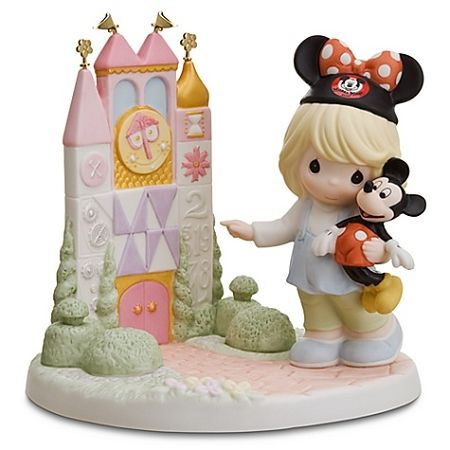 Disney Precious Moments Figurine - ''A Smile Means Friendship to Everyone'' it's a small world