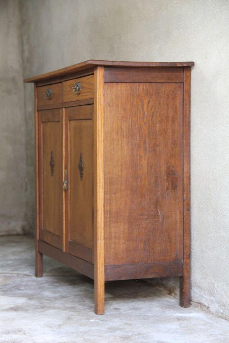 Antiek dressoir van eikenhout - Inndoors Meubelen en Interieur
