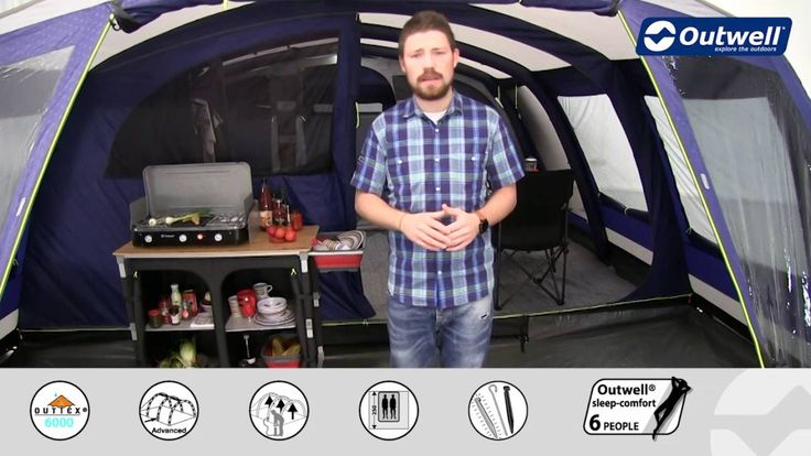 Outwell Vermont 7SA Zelt   Innovative Family Camping - Deutsche Version