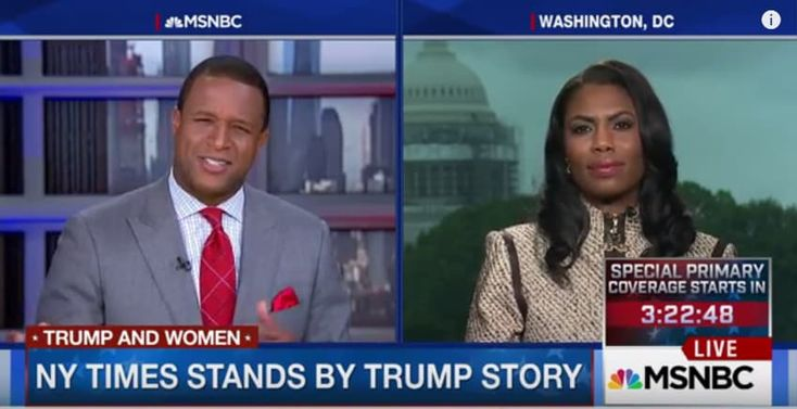 """On yesterday's edition of MSNBC Live, former reality star and business woman Omarosa Manigault stands up for presumptive Republican nominee Donald Trump in the aftermath of a scathing New York Times piece attacking his history with women. The May 15 article, """"Crossing the Line: How Donald Trump Behaved With Women in Private,"""" revealed that Trump's …"""