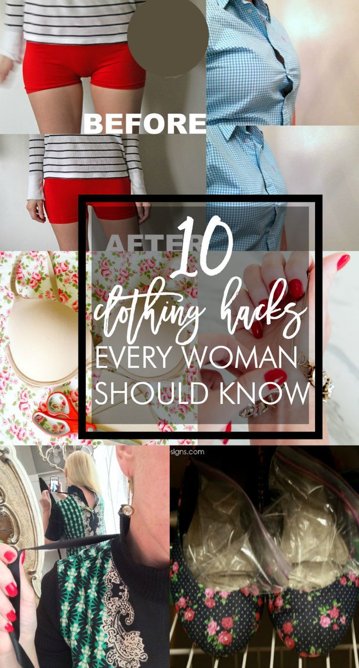 Great tips! Ten clothing hacks every woman should know