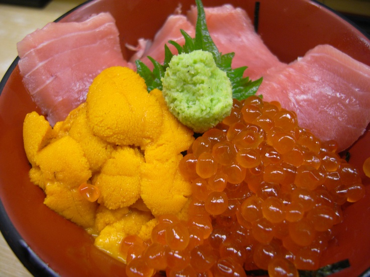 Uni, Ikura & Toro Over Rice @ 仲家 Nakaya (Tsukiji)
