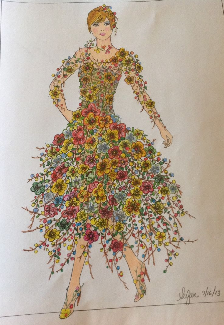 Creative Havens Flower Fashion Fantasies FashionFlower DressesColoring BooksAdult