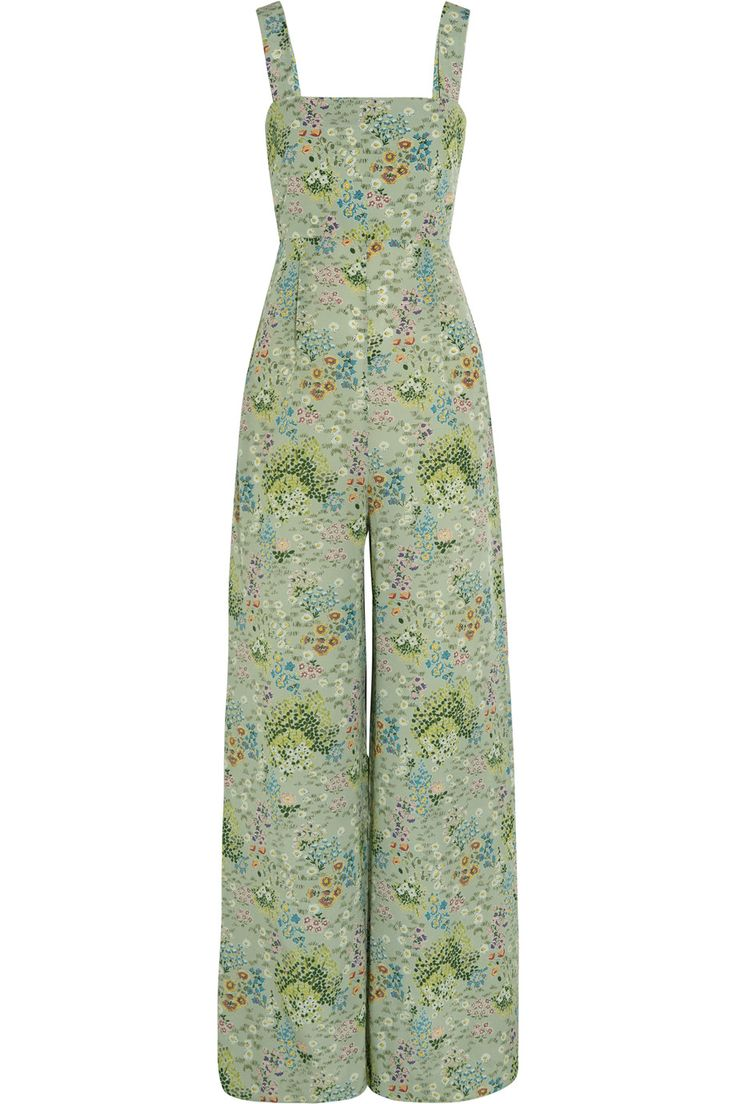 Shop on-sale Valentino Floral-print silk crepe de chine jumpsuit. Browse other discount designer Jumpsuits & more on The Most Fashionable Fashion Outlet, THE OUTNET.COM