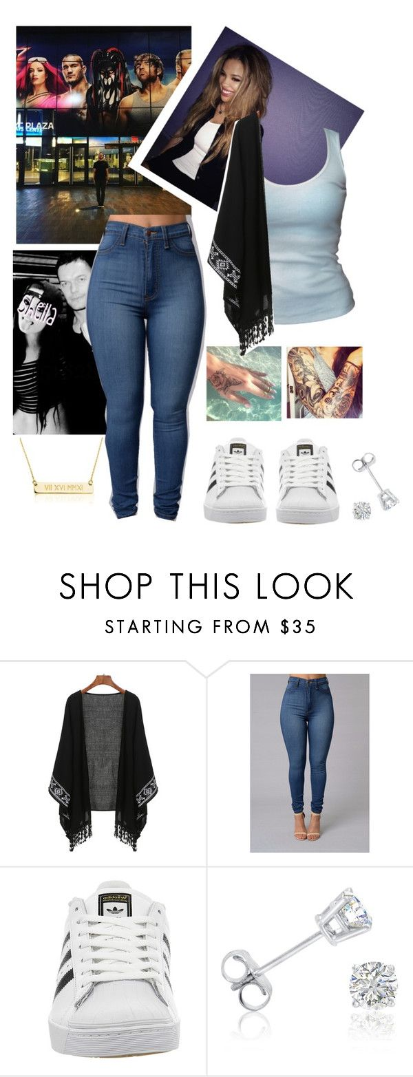 """""""🌹 Shella 🌹 Visiting Barclays Center with Finn"""" by queenofwrestling ❤ liked on Polyvore featuring Brooks, adidas, Amanda Rose Collection, WWE, summerslam, finnbalor and shellaguerrero"""