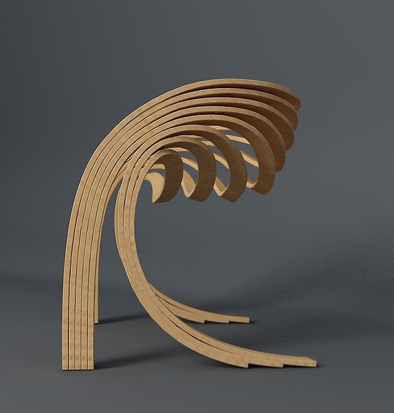 Its beautiful designs like this that make me want to be an industrial designer. Evolve Chair by Velichko Velikov.