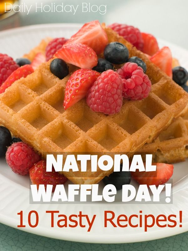 10 great waffle recipes!  Lots of great info on this site!