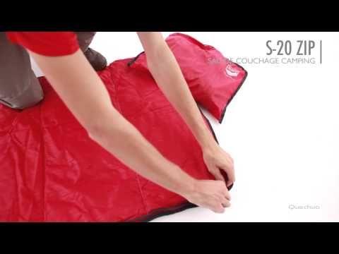 Quechua - Sac de Couchage Camping 20° - 20° Camping Sleeping Bag, Full Zip - YouTube