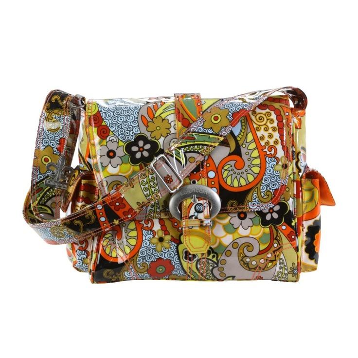 Kalencom 2959 Hannahs Paisley Midi Coated Buckle Diaper Bag