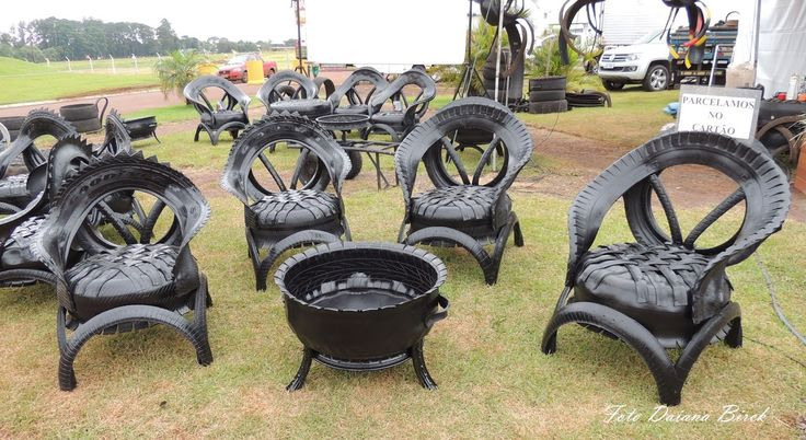 Tyre Furniture | Old Tyre Furniture | Tires Furniture | Old Tires Furniture - YouTube