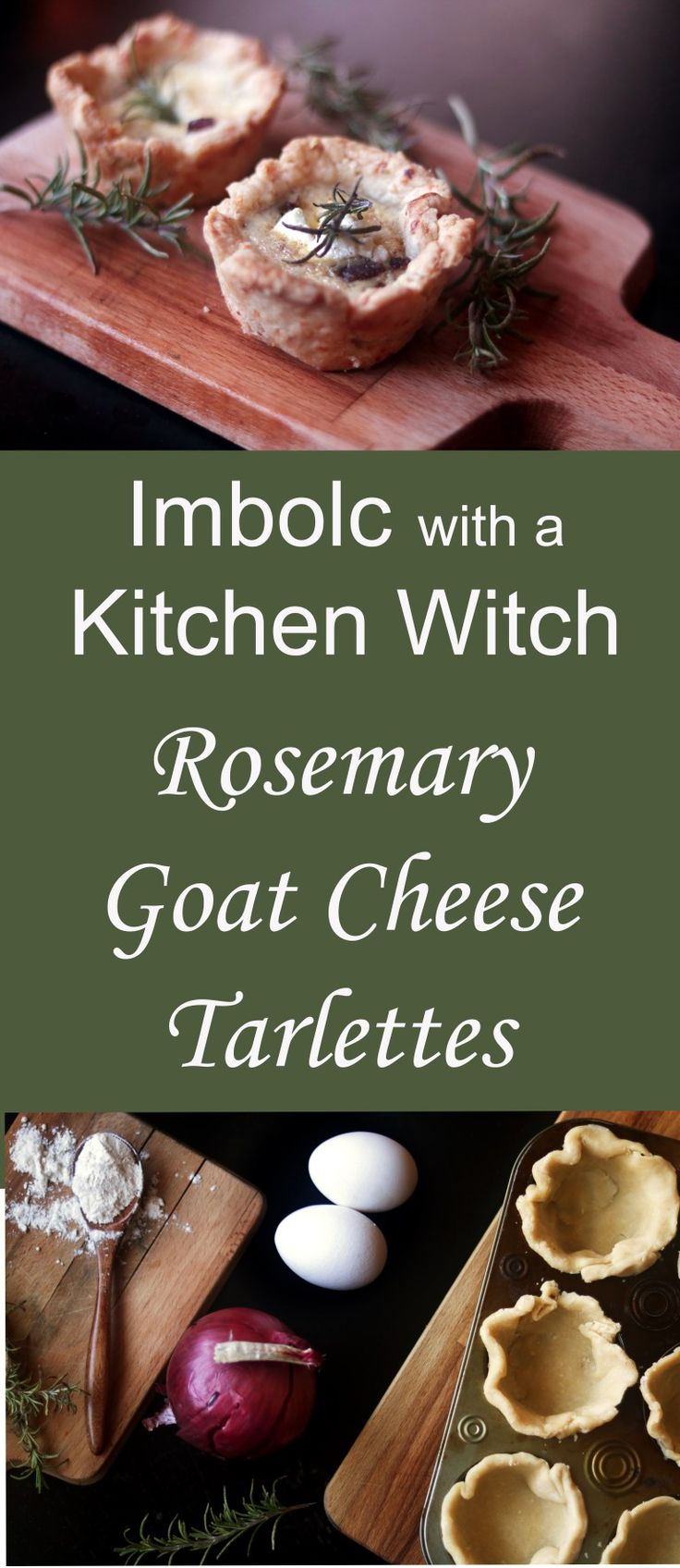 Imbolc with a Kitchen Witch: Goat Cheese & Balsamic Onion Tartlettes