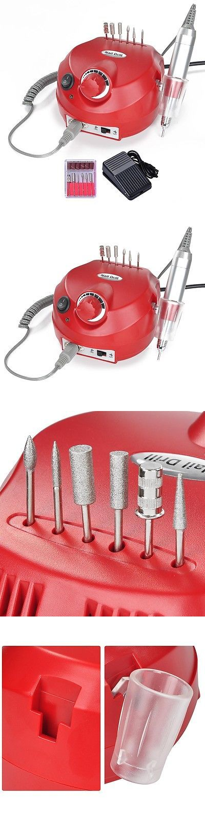 Manicure Pedicure Tools and Kits: Professional Manicure Pedicure Electric Drill File Nail Art Pen Machine Kit Red BUY IT NOW ONLY: $35.9