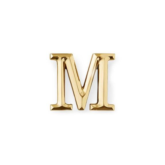 Monogram Letter E Door Knocker Brass