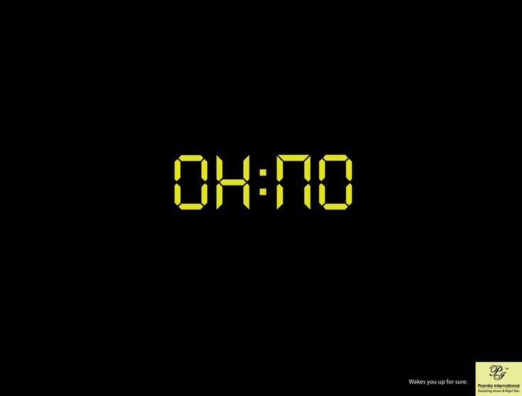 OH NO digital alarm clock
