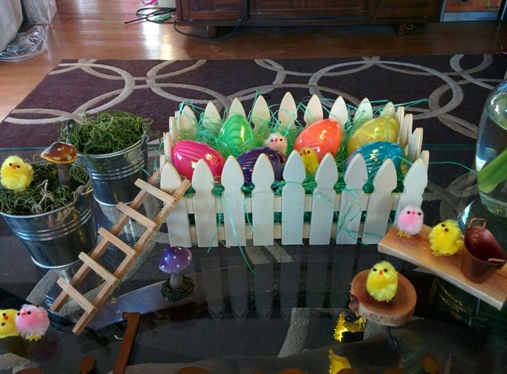 Peeps in the garden spring and Easter decor