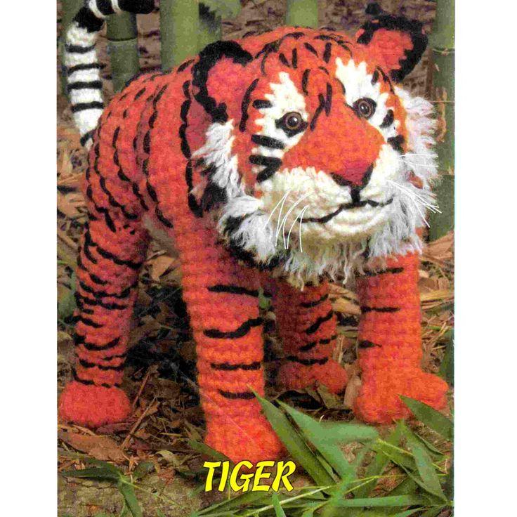 Instant Download Pdf Vintage Crochet Pattern Large Tiger