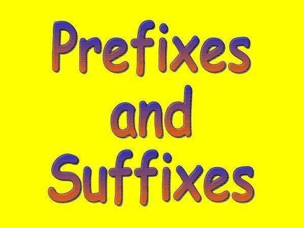 английские приставки и суффиксы