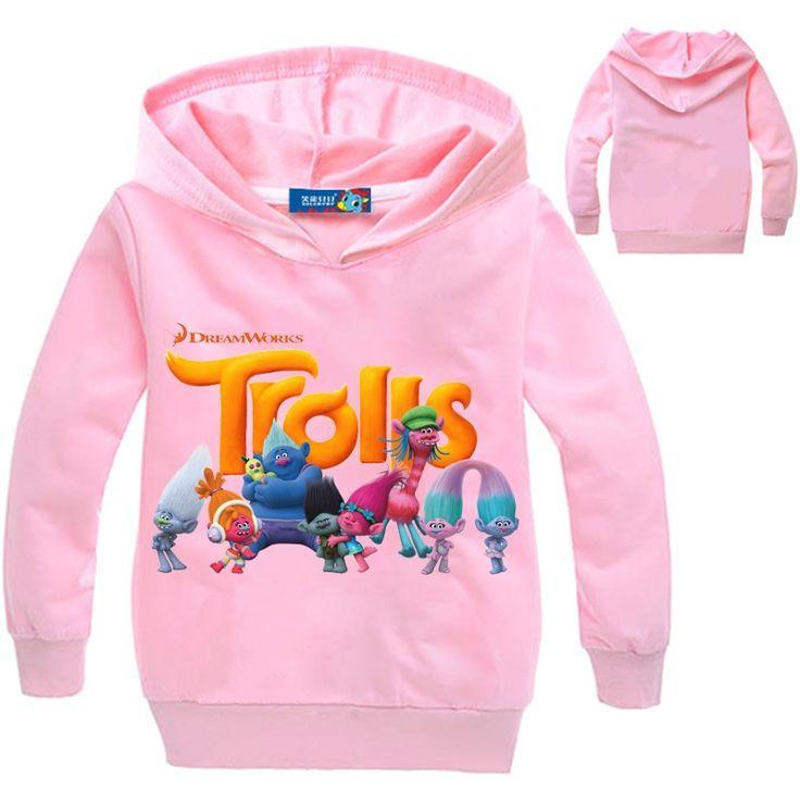 $8.89 (Buy here: https://alitems.com/g/1e8d114494ebda23ff8b16525dc3e8/?i=5&ulp=https%3A%2F%2Fwww.aliexpress.com%2Fitem%2F2016-Trolls-T-shirt-Kids-Boy-Cartoon-T-Shirt-Cotton-Spring-Long-sleeved-Chilren-Clothing-Girls%2F32779895390.html ) 2016 Trolls T-shirt Kids Boy Cartoon T Shirt Cotton Spring Long-sleeved Chilren Clothing Girls 8 year Pullover with hat DC1071 for just $8.89