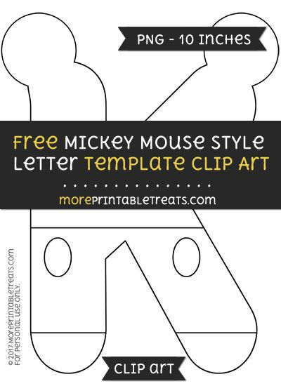 1053 best mickey mouse party printables images on pinterest a free mickey mouse style letter k template clipart spiritdancerdesigns Images