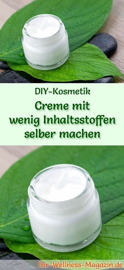 Make the cream with little ingredients yourself - recipe and instructions - - # skin care ...  -  Hautpflege-Rezepte
