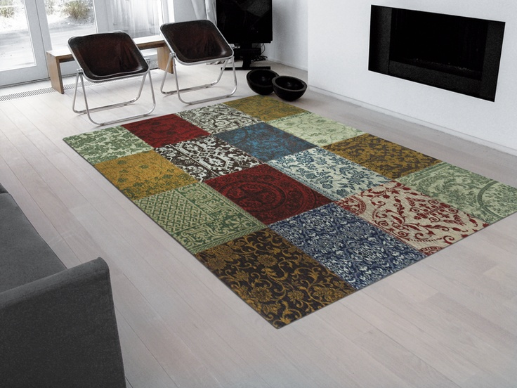 Louis De Poortere Rugs Vintage Multi 8004 Coloured Wool And Cotton Chenille Patchwork Rug From Including Free Uk Delivery