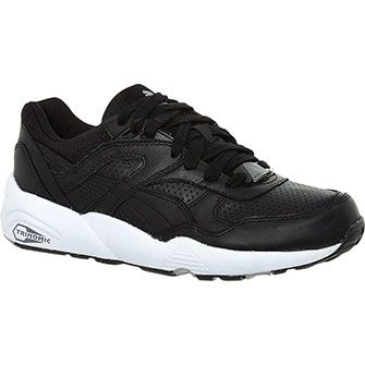 Puma Black Leather Trainers
