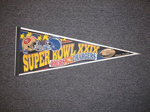 Los Angeles Chargers Super Bowl Pennant