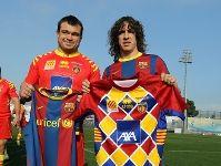 Els dos capitans dels meus equips, en Carles Puyol, capità del Barça de futbol i en Nicolas Mas, capità de l'USAP de rugbi