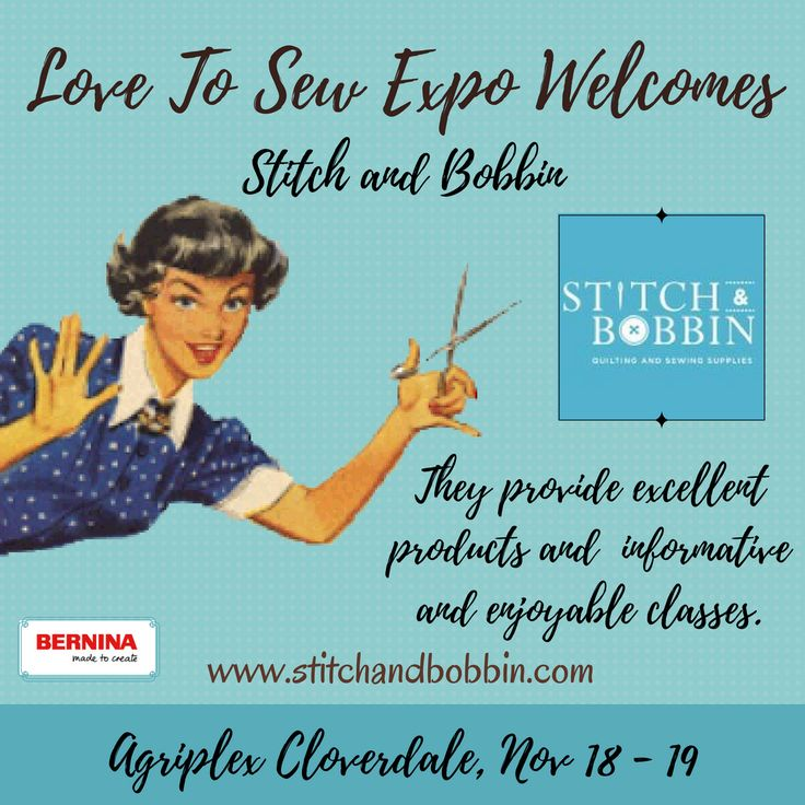 Stitch & Bobbin will be at the #lovetosewexpo