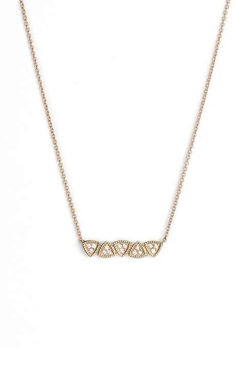 Dana Rebecca Designs 'Emily' Diamond Bar Pendant Necklace