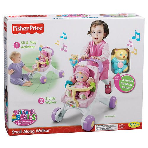 fisher price brilliant basics stroller styled walker toys fisher price and babies r us. Black Bedroom Furniture Sets. Home Design Ideas