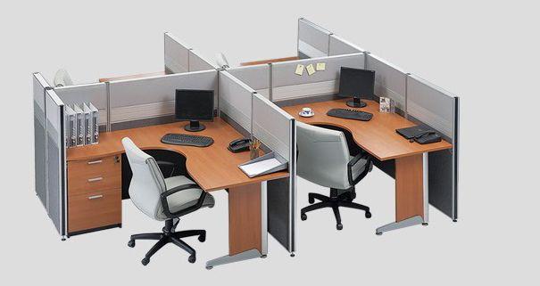 www.shineofficefurniture.com Partisi modera Seri 6. Workstation lebih minimalis untuk ruang kerja kantor.