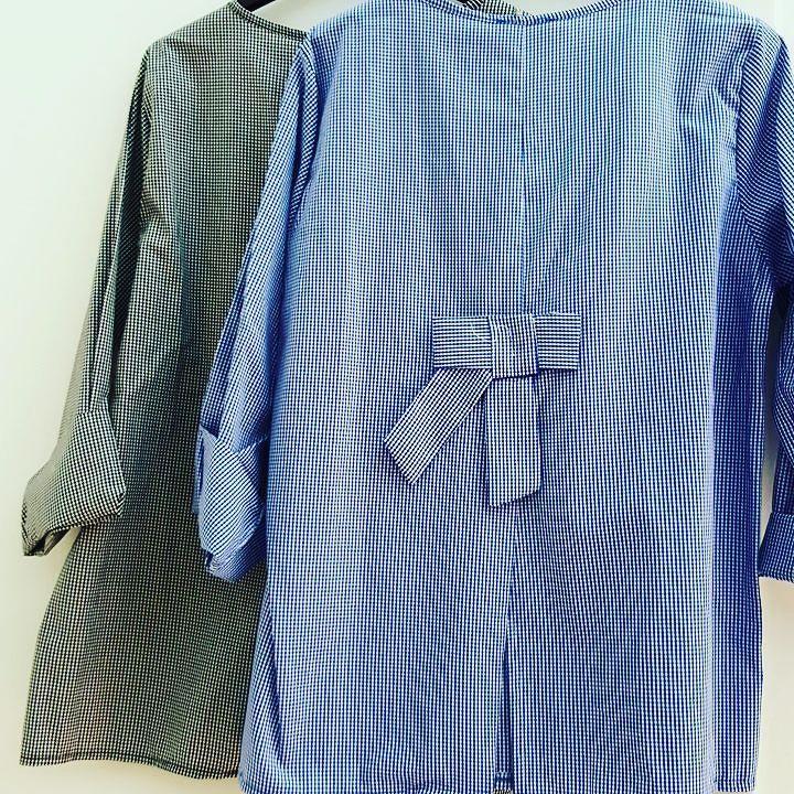 #maxy #camicia #cotone ##quadretti #fiocco #dietro #valeria #abbigliamento
