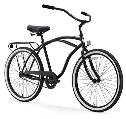 Complete Cruiser Bikes - sixthreezero Around The Block Mens 26Inch Single Speed Cruiser Bike Matte Black 18  One Size ** Want to know more, click on the image.