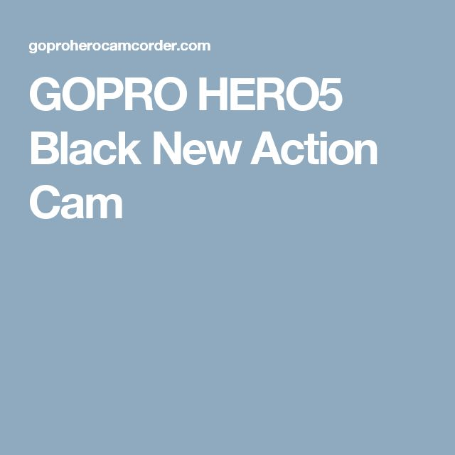 GOPRO HERO5 Black New Action Cam