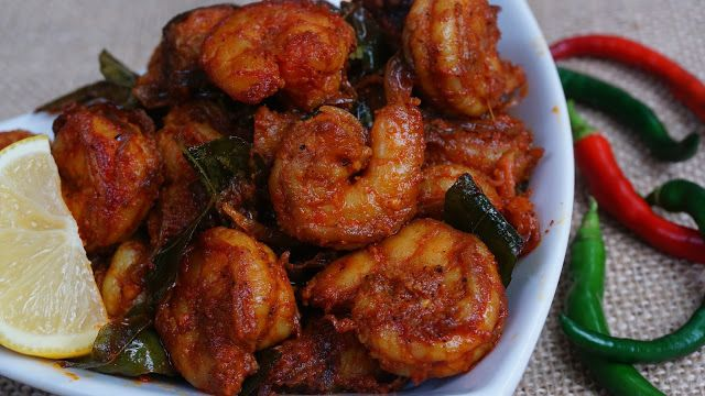 Spicy Prawns Roast / Shrimp Roast | Steffi's Recipes